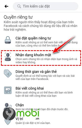 kich hoat nhan dien khuon mat tren facebook