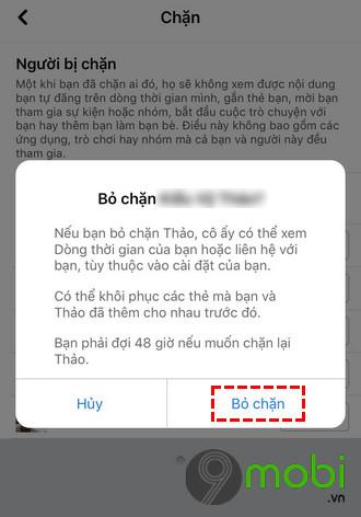 cach chan ban be tren facebook