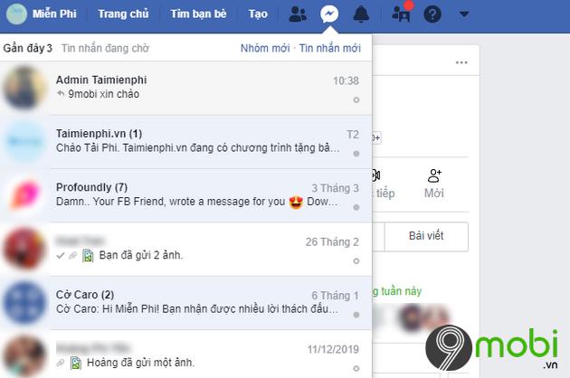 dao nguoc tin nhan facebook messenger