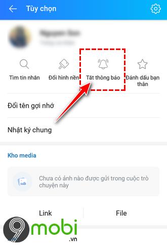 tat thong bao tin nhan zalo cua ban be bat ky