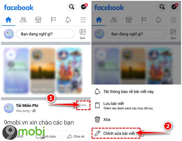 an bai dang tren facebook voi ban be bat ky