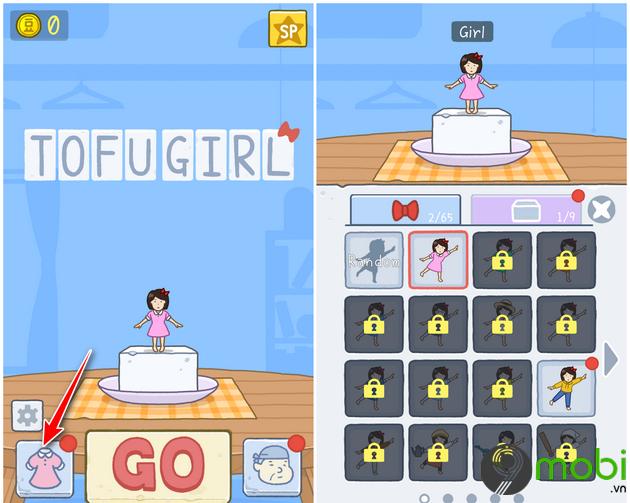 huong dan choi game tofu girl tren dien thoai 9