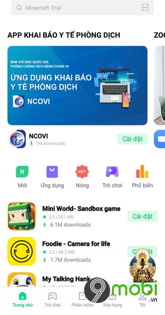 cua hang ung dung app market cho dien thoai oppo