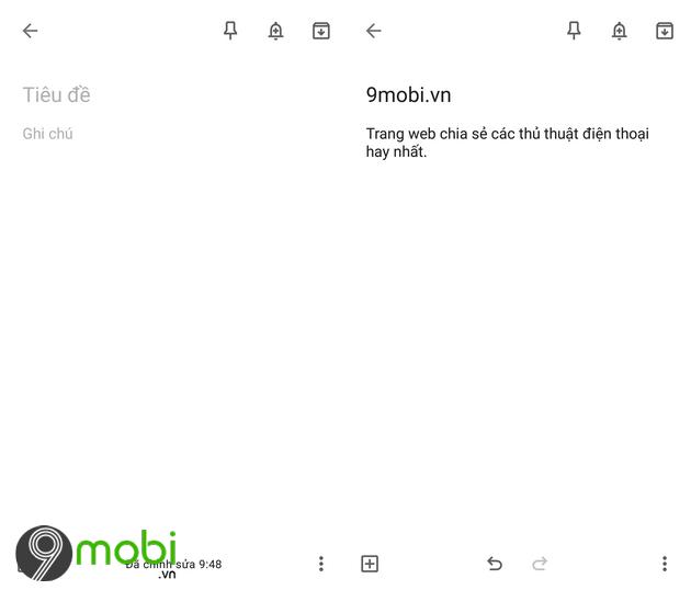 su dung google keep tao ghi chu va nhac nho tren android