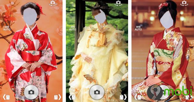 top ung dung chup anh co trang kiem hiep Kimono Photo Montage