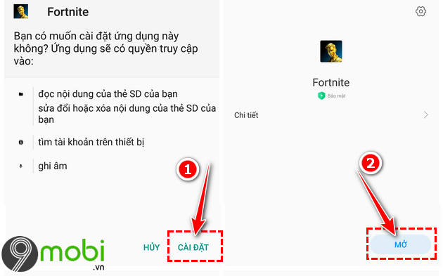 cach tai fortnite mobile cho android