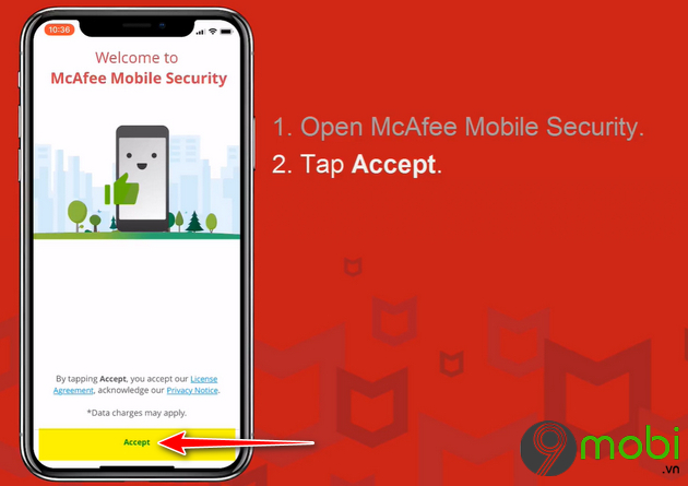 cach su dung mcafee mobile security tren iphone