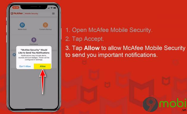 cach bao mat du lieu tren iphone voi mcafee mobile security