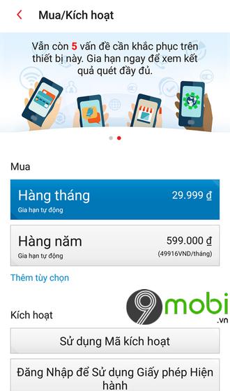 cach nang cap tai khoan trend micro mobile security tren iphone