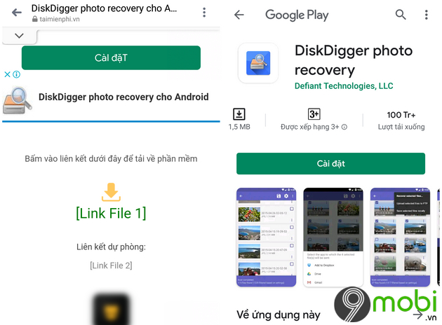 khoi phuc anh tren android voi diskdigger photo recovery