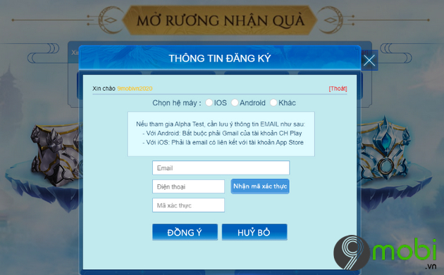 cach nhan code game perfect world vng