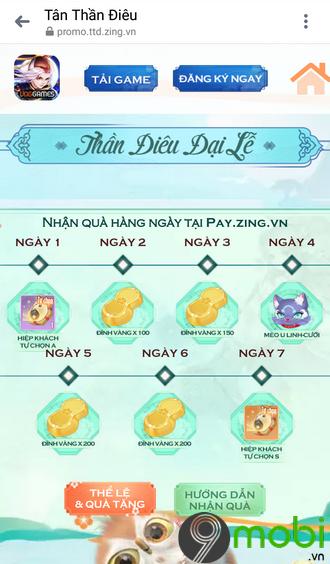 cach nhap code game tan than dieu vng