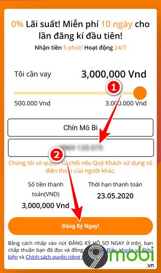 Hướng dẫn cách vay tiền nhanh trên ứng dụng MoneyCat