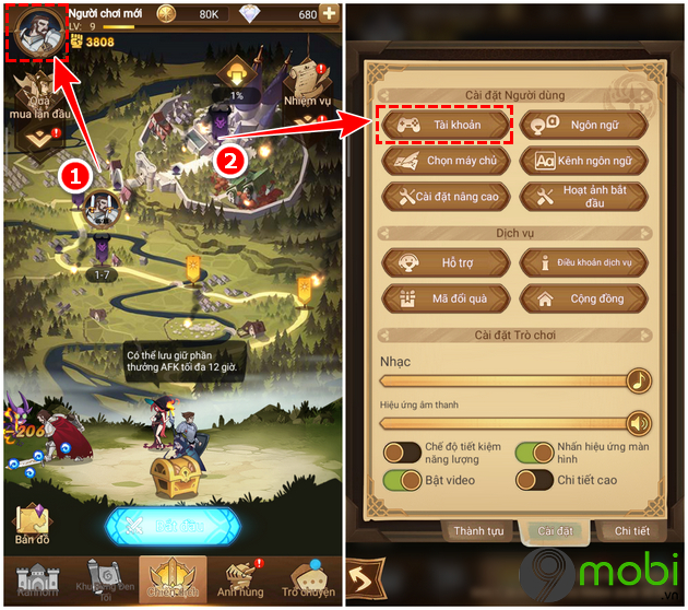 tai game dau truong afk cho android