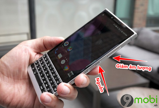 chup man hinh blackberry