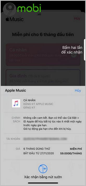 cach dang ky apple music tren iphone goi sinh vien