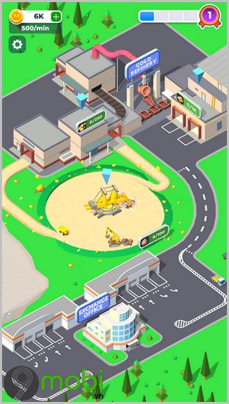 game mo phong kinh doanh tren dien thoai mining inc