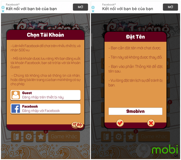 cach choi co tuong offline tren dien thoai android