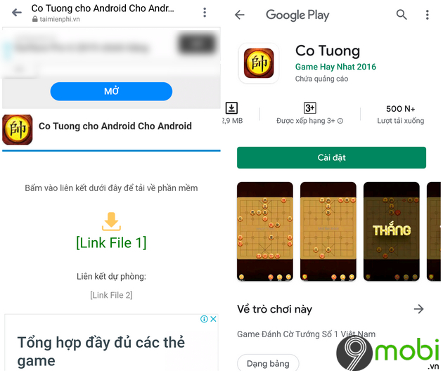 cac cach choi co tuong tren dien thoai android