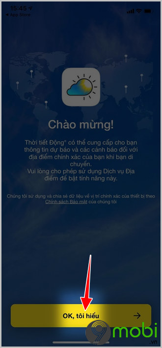 cach su dung app thoi tiet dong tren iphone