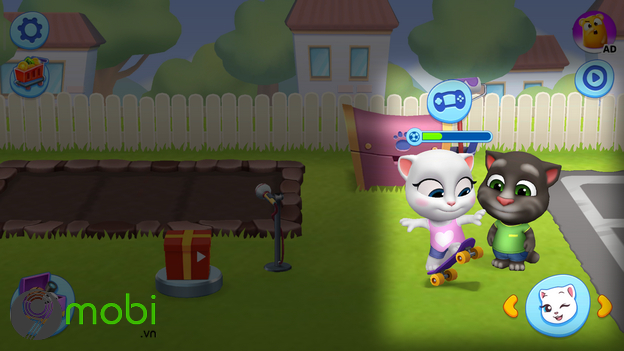 cach choi game my talking tom friends tren dien thoai iphone