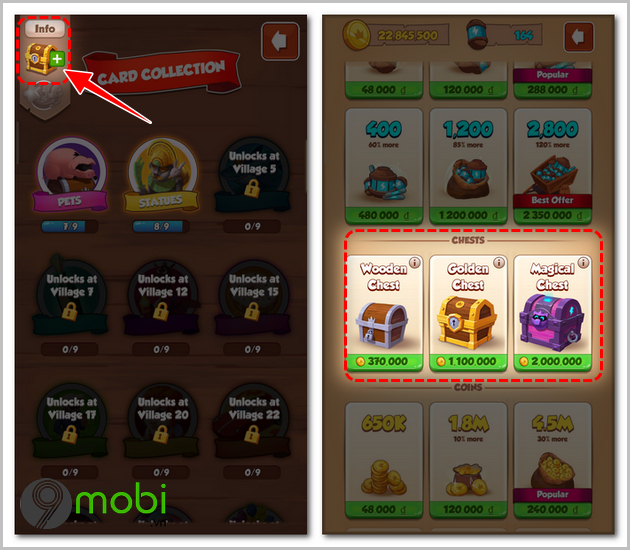 cach nhan them spins coin master moi ngay bang card collection