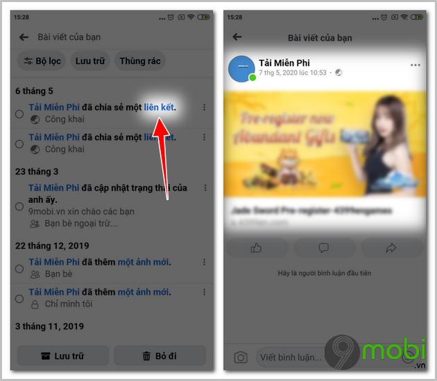 xoa nhieu post cung luc tren facebook tren iphone voi manage activity