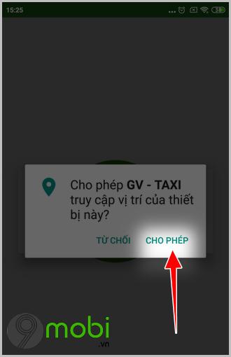 cach goi xe oto bang ung dung gv taxi