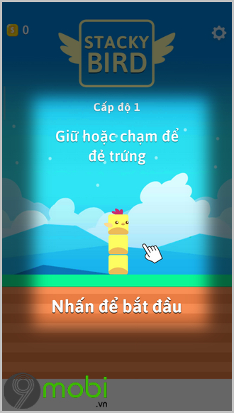 cach choi game stacky bird tren iphone
