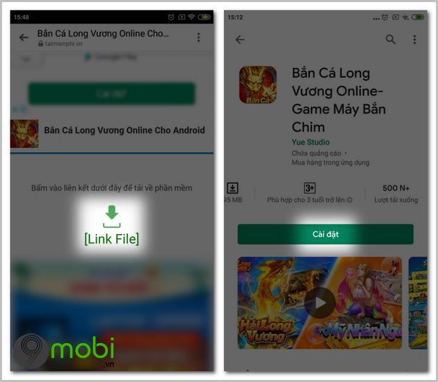 cach tai game ban ca long vuong online