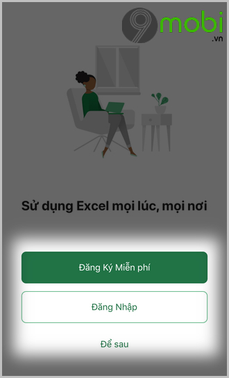 cach tao file excel tren iphone