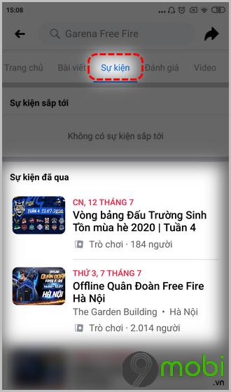 cach tim qua free fire tren fanpage facebook