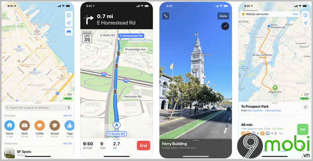 apple maps ung dung xem ban do cho iphone
