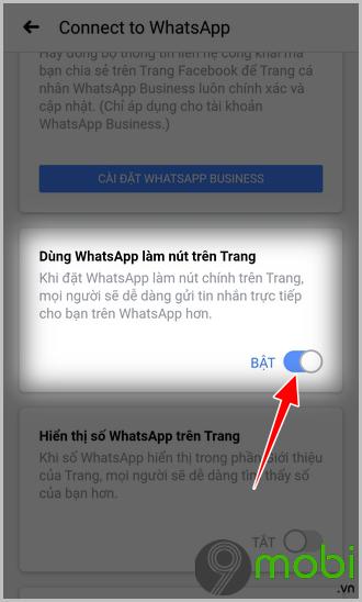 ket noi nut whatsapp vao fanpage facebook