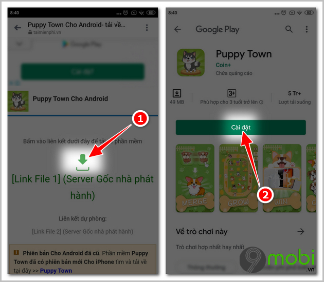 cach tai va cai dat game puppy town