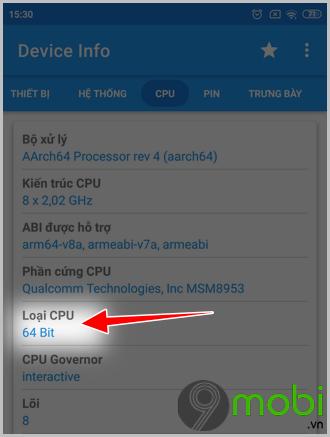 cach kiem tra thiet bi android chay chip32 bit hay 64 bit