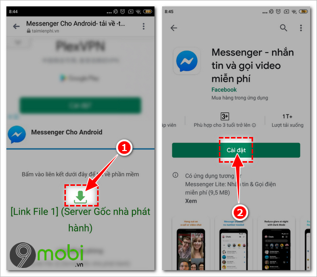 tai facebook messenger cho android