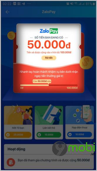Cách nhận 100K trên ZaloPay từ 03/08 đến 10/09/2020