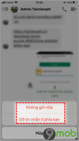 xoa tin nhan facebook messenger tren ios