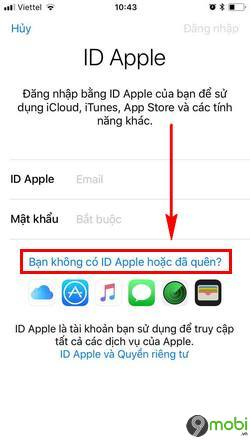 cach tao id apple bang iphone 3