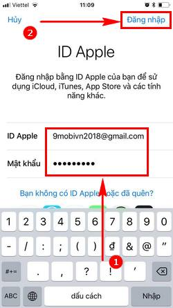 cach tao id apple bang iphone 10