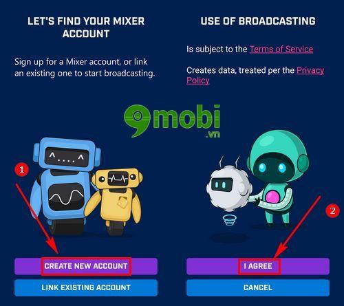 cach stream game tren ios va android bang mixer create 5