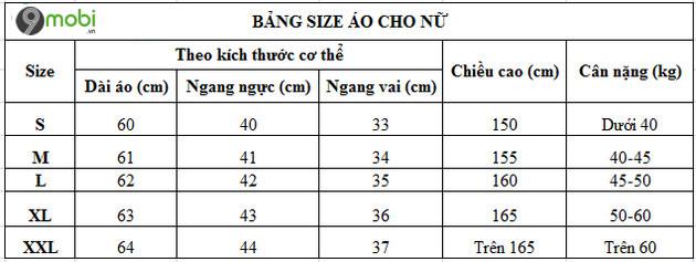 bang size ao chuan s m l xl xxl 3
