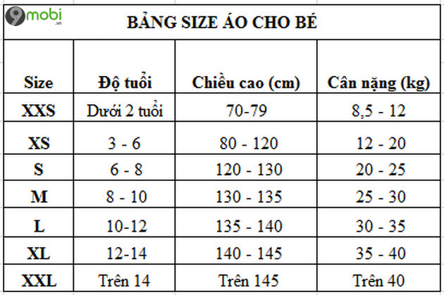 bang size ao chuan s m l xl xxl 4