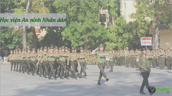 Diem chuan Hoc vien An Ninh Nhan dan