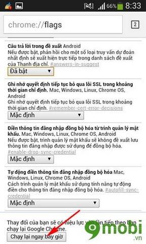 hiện trả lời trong đề xuất của Google Chrome