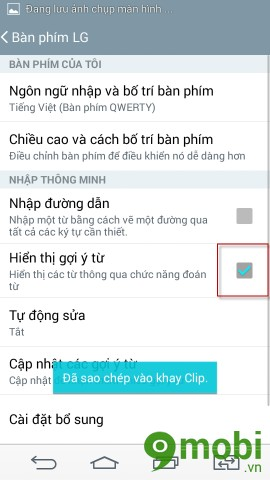 How to turn off predictive keyboard phone LG G3