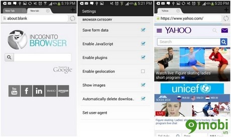 ứng dụng duyệt web tốt cho Android