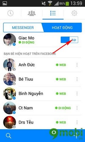 an nick tren Facebook Messenger