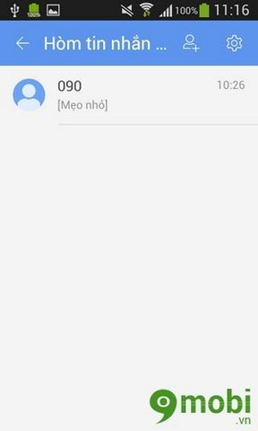 How to hide private messages by GO SMS on Android